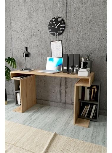 Mobitopya Çalışma Masası / ÇAM - ANTRASİT Renkli